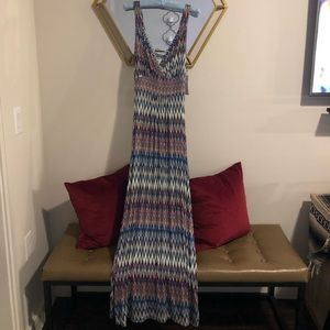Loveapella chevron print maxi dress